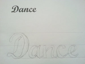 Template for rhinetoning dance on bag