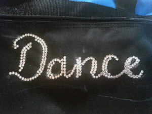 how to glue rhinestones to a dance bag