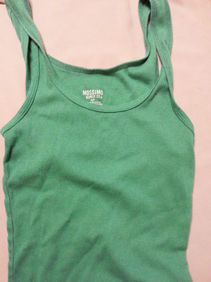 A plain ordinary tank top