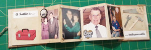 Adding pictures and metal trim to memory book