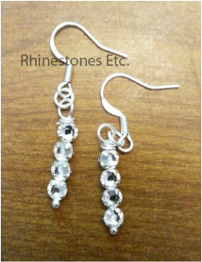Dangle crystal rhinestone earrings