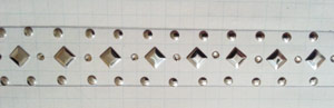 Spacing out metal trim for bangle