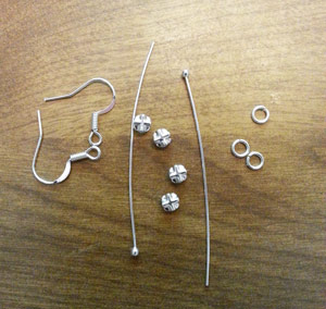 Supplies needed to make dangle rhinestone earrings