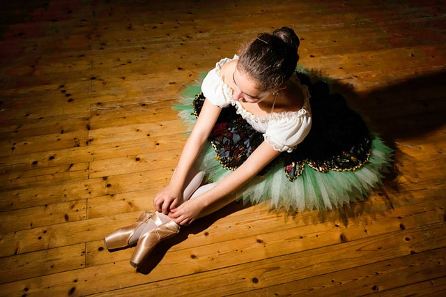 Ballerina in a dance costume