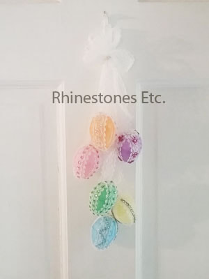 Rhinestone Easter Egg Door Hanging