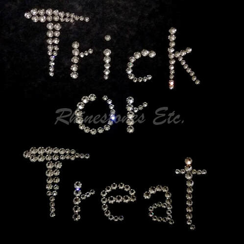 Rhinestone Trick or Treat template