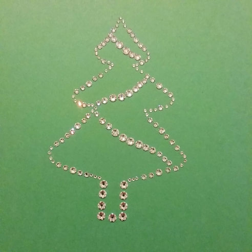 Christmas Tree Rhinestone Template