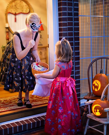 Child going trick or treating