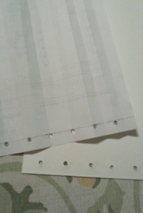 Making a template for holes for the pages