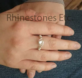 How to make a rhinestone ring