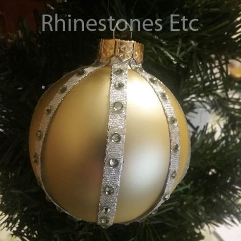 DIY Christams ornament in Silver and Gold