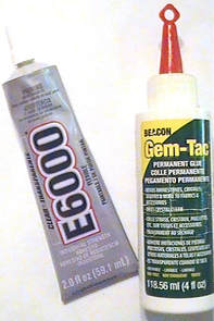 Adhesives for gluing rhinestones